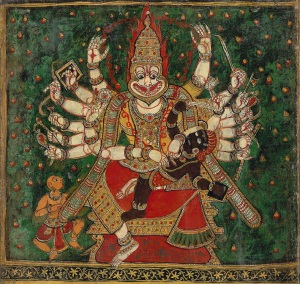 Narasimha_oil_colour4thavatar Lord Vishnu